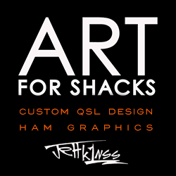 CUSTOM QSL CARDS/ART FOR SHACKS BY K1NSS